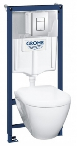 Grohe Solido Perfect 4 в 1 система инсталляции с подвесным унитазом
